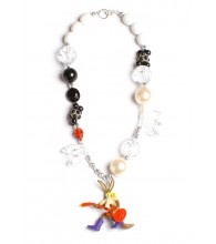 Wile E. Coyote Black & White Necklace
