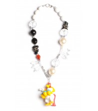 Foghorn Leghorn Black & White Necklace