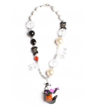 Pepe Le Pew Black & White Necklace