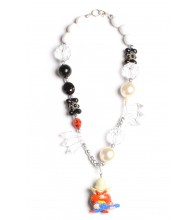 Yosemite Sam Black & White Necklace