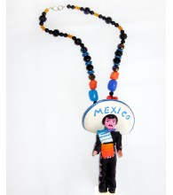I Love Mexico Senor Doll Necklace