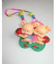Vietnam Piglets Necklace